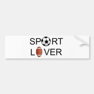 Sport Lover Bumper Sticker