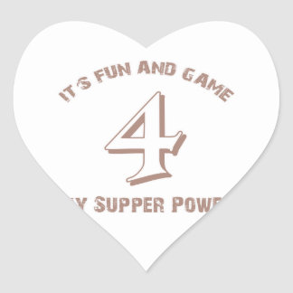 Sport  Number 4 Designs Heart Stickers