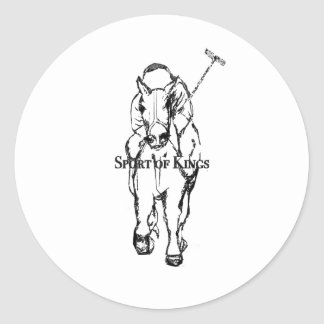 sport of kings round sticker