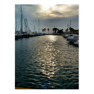 Sport port of Villajoyosa, Spain Postcard