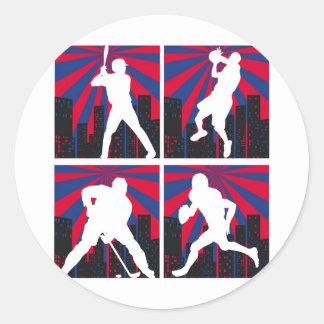 Sport Silhouettes Round Sticker