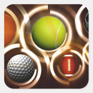 Sport Square Sticker