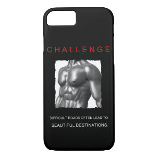 sport success motivational challenge quote iPhone 8/7 case