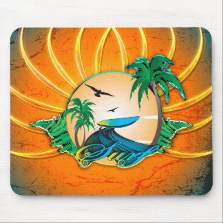 Sport, surfing mouse pad