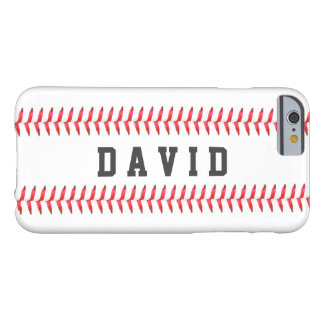 Sport Theme Baseball Stitching All Star Name Barely There iPhone 6 Case