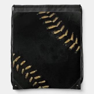 sport-themed black baseball ball rucksacks