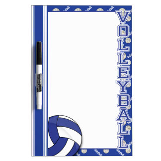 Sport Volleyball | Dark Blue Dry Erase Board