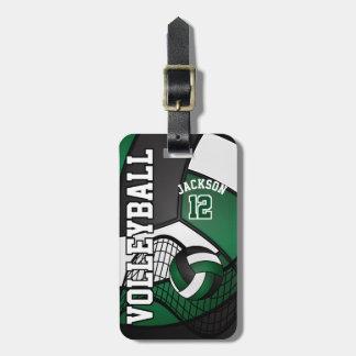 Sport Volleyball |  Dark Green, White, Black Bag Tag