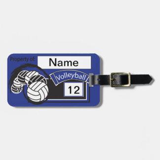 Sport Volleyball   DIY Text   Dark Blue Bag Tag