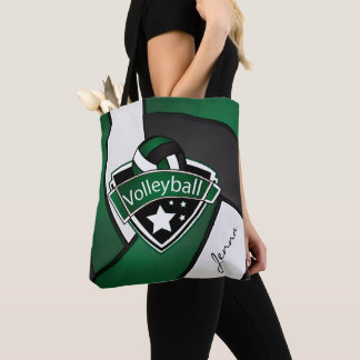 Sport Volleyball | DIY Text - Dark Green Tote Bag