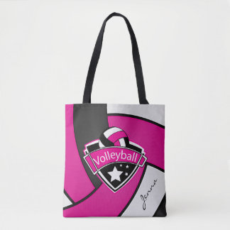 Sport Volleyball | DIY Text - Pink Tote Bag