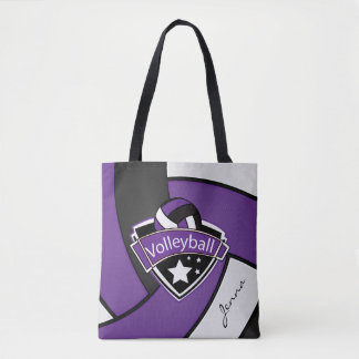 Sport Volleyball | DIY Text - Purple Tote Bag