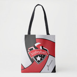 Sport Volleyball | DIY Text - Red Tote Bag