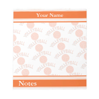 Sport Volleyball | Orange | DIY Name Notepads