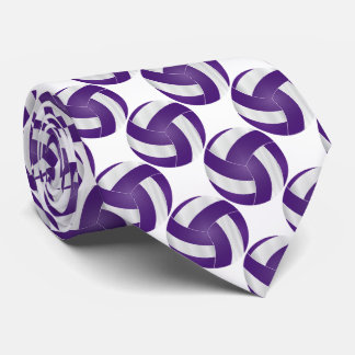 Sport White and Purple Volleyball Tie