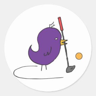 Sporting Bird 0022 nc Round Sticker