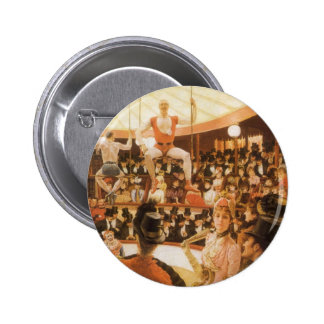 Sporting Ladies (or Circus Lover) by James Tissot 6 Cm Round Badge