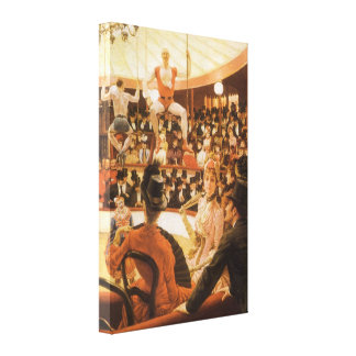 Sporting Ladies or Circus Lover by James Tissot Stretched Canvas Print