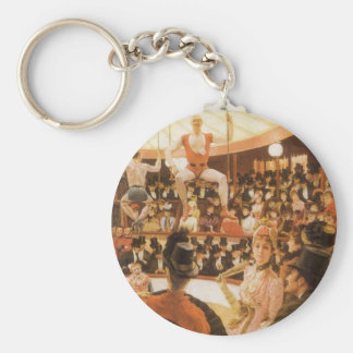 Sporting Ladies (or Circus Lover) by James Tissot Key Ring