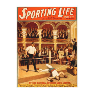 """""""Sporting Life"""" Boxing Theatrical Play Poster Canvas Print"""