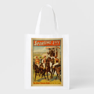 Sporting Life - The Great English Derby Theatre Reusable Grocery Bag
