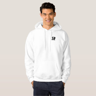 SPORTREEL WHITE JUMPER WITH ORIGINAL LOGO HOODIE