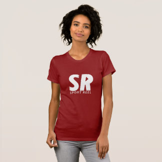 SPORTREEL WOMEN FITTED RED T-SHIRT WITH WHITE LOGO