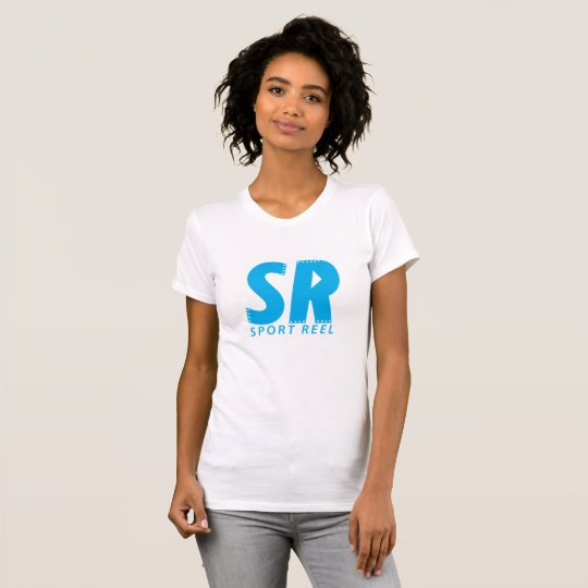 SPORTREEL WOMEN FITTED T-SHIRT WITH BLUE LOGO