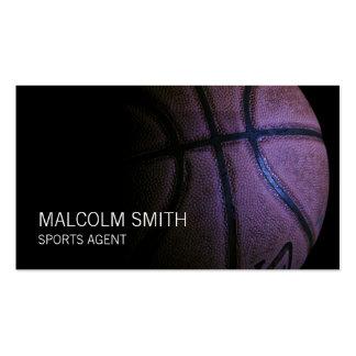 Sports Agent Dark Basketball Closeup Business Card Template