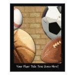 Sports Al-Star, Basketball/Soccer/Football Full Color Flyer
