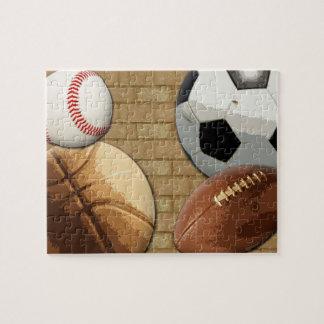 Sports Al-Star, Basketball/Soccer/Football Jigsaw Puzzle
