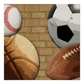 Sports Al-Star, Basketball/Soccer/Football Poster