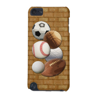 Sports All-Star Balls with Brick Wall iPod Touch (5th Generation) Cases