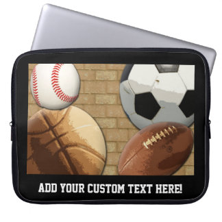 Sports All-Star, Basketball/Soccer/Football Laptop Sleeve