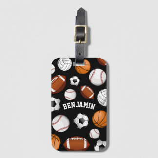 Sports All STAR Personalized Name Black Luggage Tag