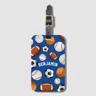 Sports All STAR Personalized Name Blue Bag Tag
