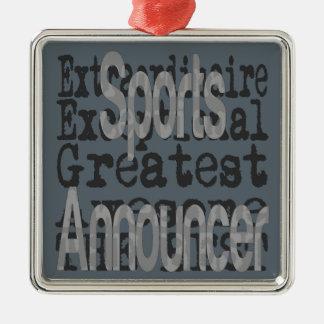 Sports Announcer Extraordinaire Christmas Ornament