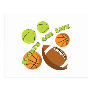 Sports Are Life Postcard
