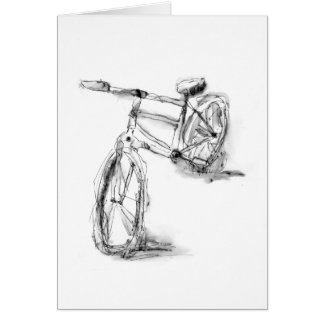 Sports Art Drawing Bike II Card