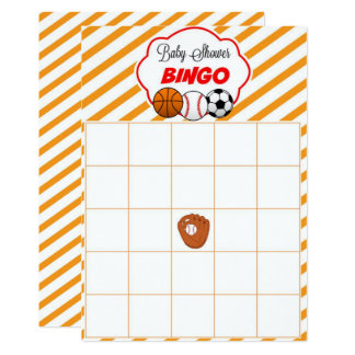 Sports Baby Shower Blank Gift Baby Bingo Cards 13 Cm X 18 Cm Invitation Card
