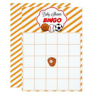 Sports Baby Shower Blank Gift Baby Bingo Cards 13 Cm X 18 Cm Invitation Card