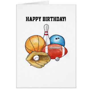 Sports Balls Birthday Card