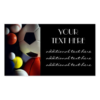 Sports Balls Business Card Templates