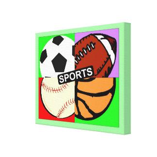 Sports Balls Stretched Canvas Prints