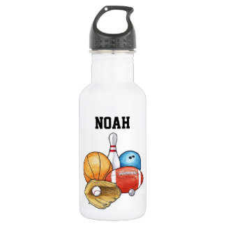 Sports Balls Personalized 532 Ml Water Bottle
