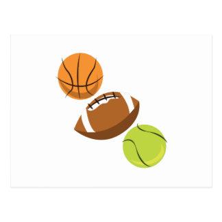 Sports Balls Postcard
