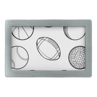 Sports Balls Set Belt Buckles