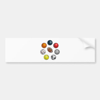 Sports Balls Set Bumper Sticker
