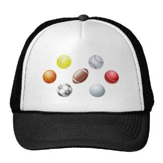 Sports balls trucker hat