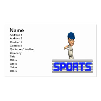 Sports Baseball Business Card